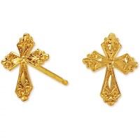 Jewelry Of Faith 14k Cross Earring Stud - Walmart.com