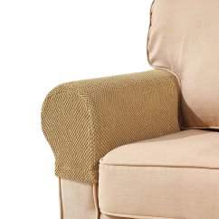 Walmart Armchair Covers Swing Chair Models Subrtex Spandex Stretch Fabric Armrest Sofa Slipcovers Set Of 2 Beige Jacquard Com