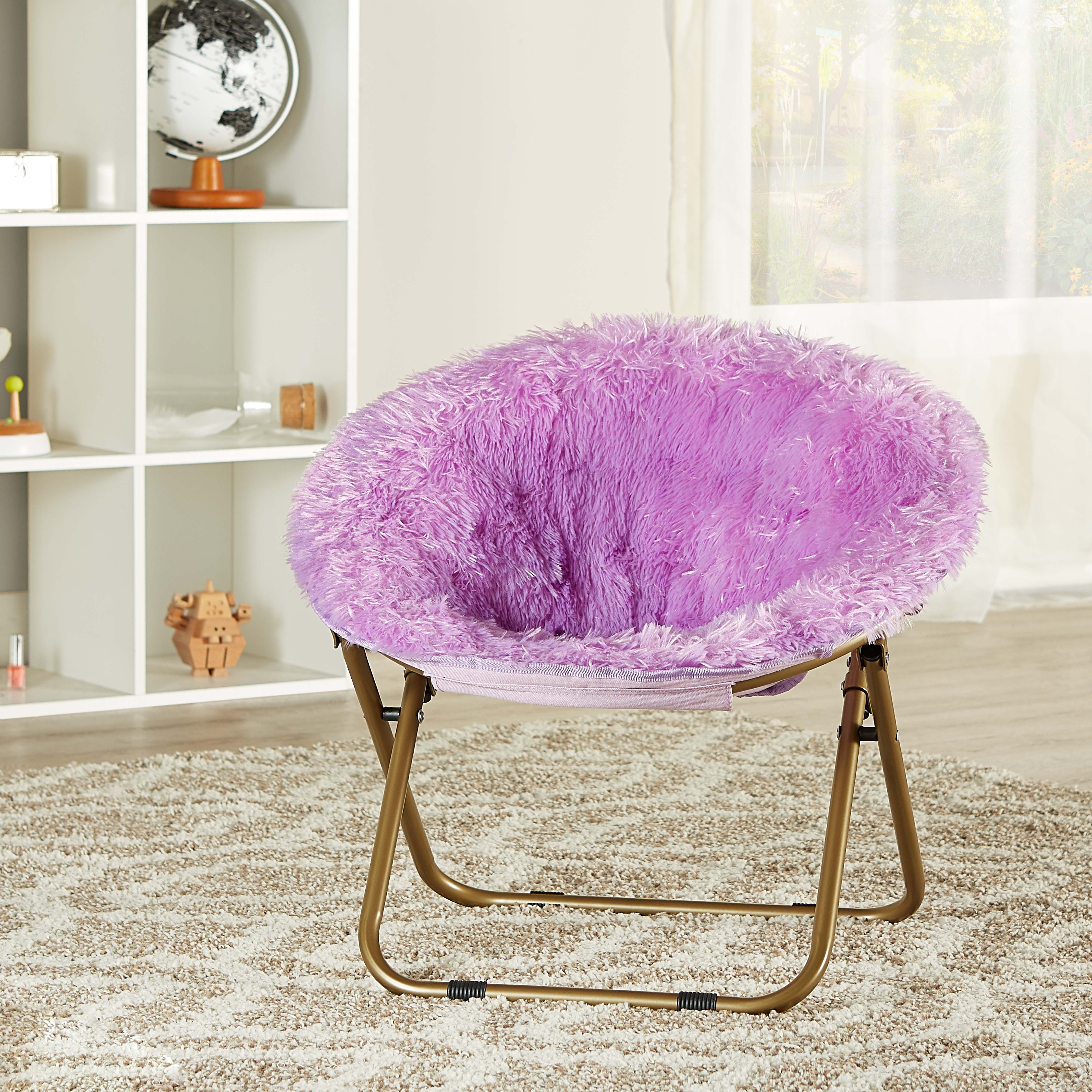 toddler saucer chair canada sturdy dining room chairs mainstays kids blair plush faux fur multiple