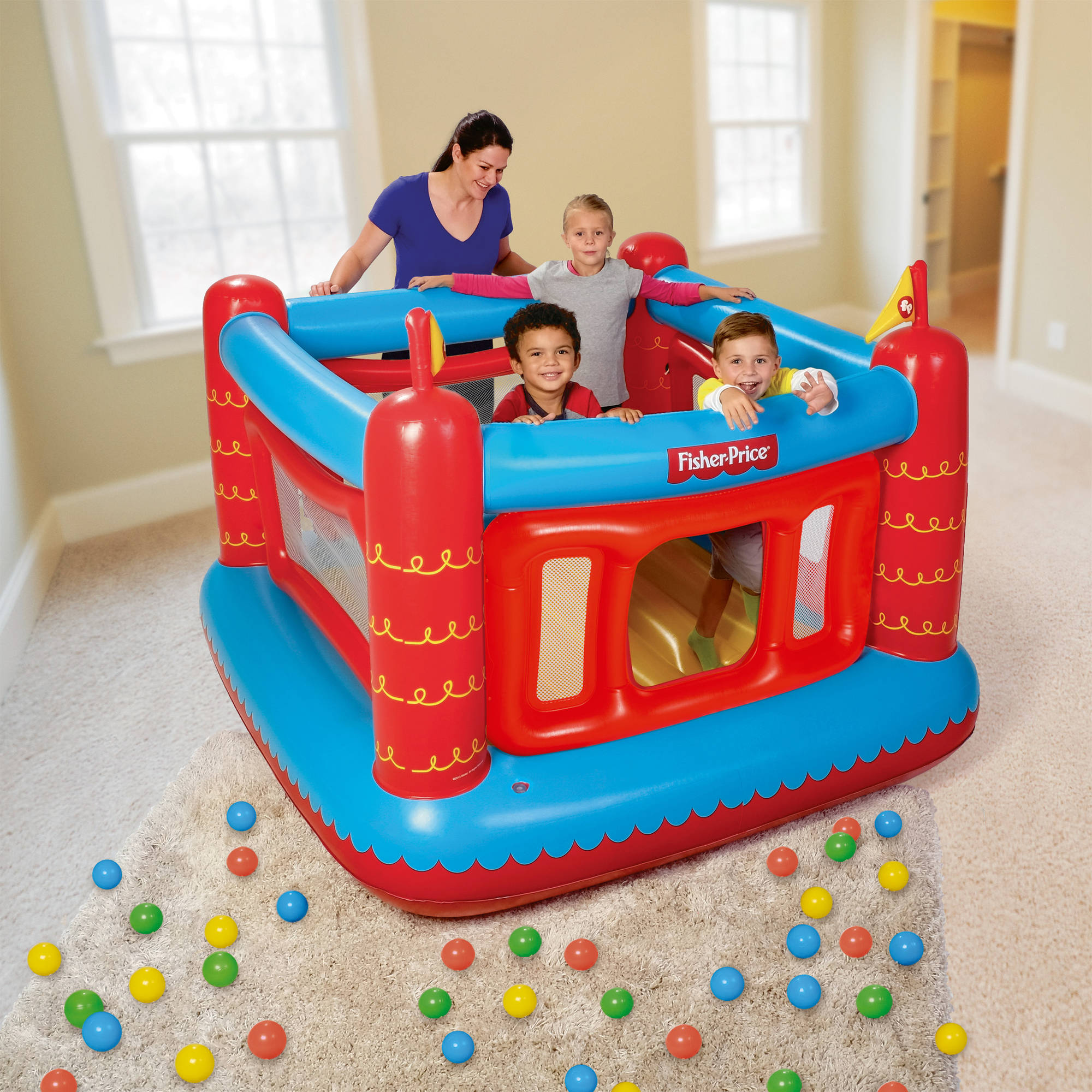 Fisher Price Bouncetastic Bouncer With 50 Play Balls 69