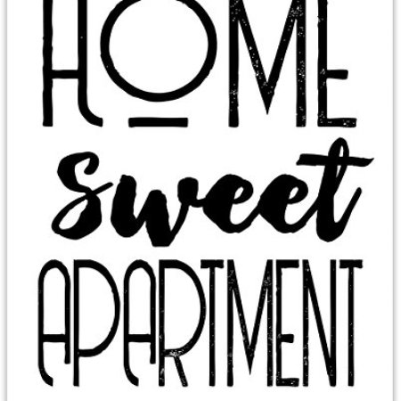 Home Sweet Apartment 11x14 Unframed Typography Art Print Great Decor