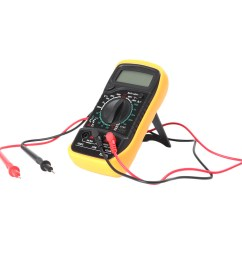 gzyf digital voltmeter ammeter ohmmeter multimeter volt ac dc handheld portable tester tool meter walmart com [ 1001 x 1001 Pixel ]