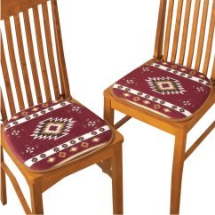 Chairs Cushion Pads Revolving Chair Details Southwest Aztec Native American Padded Set Of 2 Multi Walmart Com