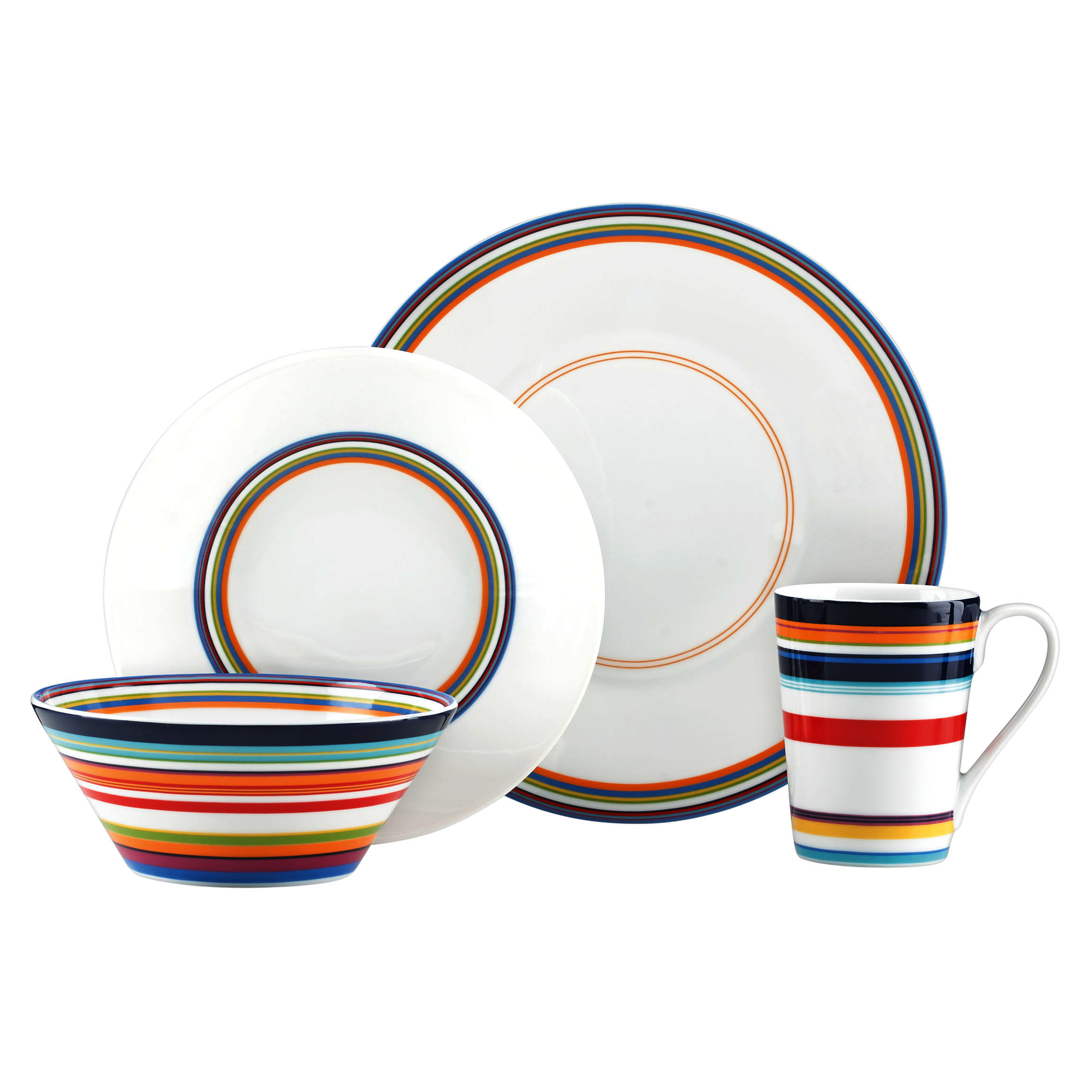 dkny urban essentials by lenox white 4 piece dinnerware place setting