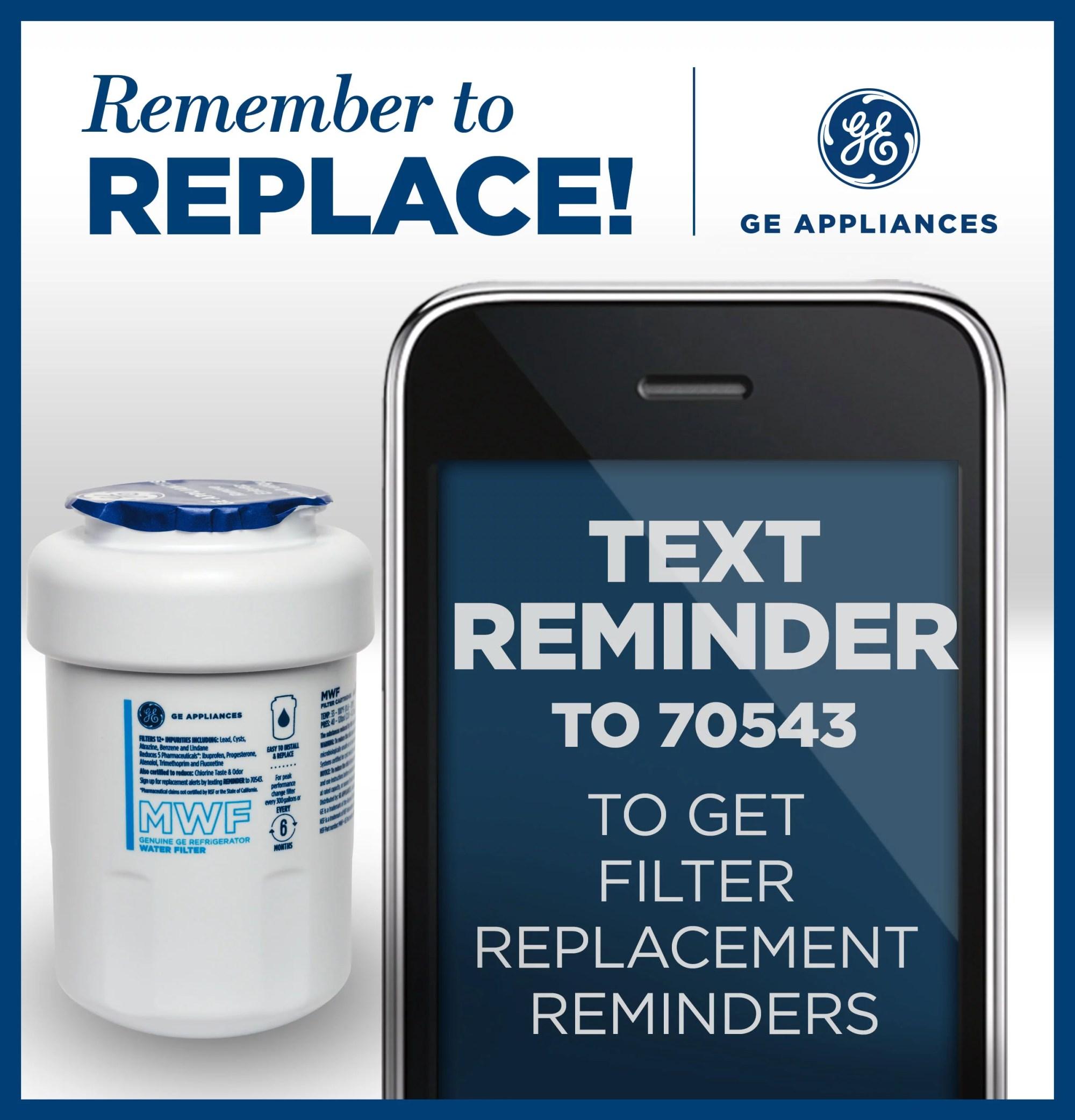 hight resolution of ge mwf replacement refrigerator water filter cartridge mwf walmart com
