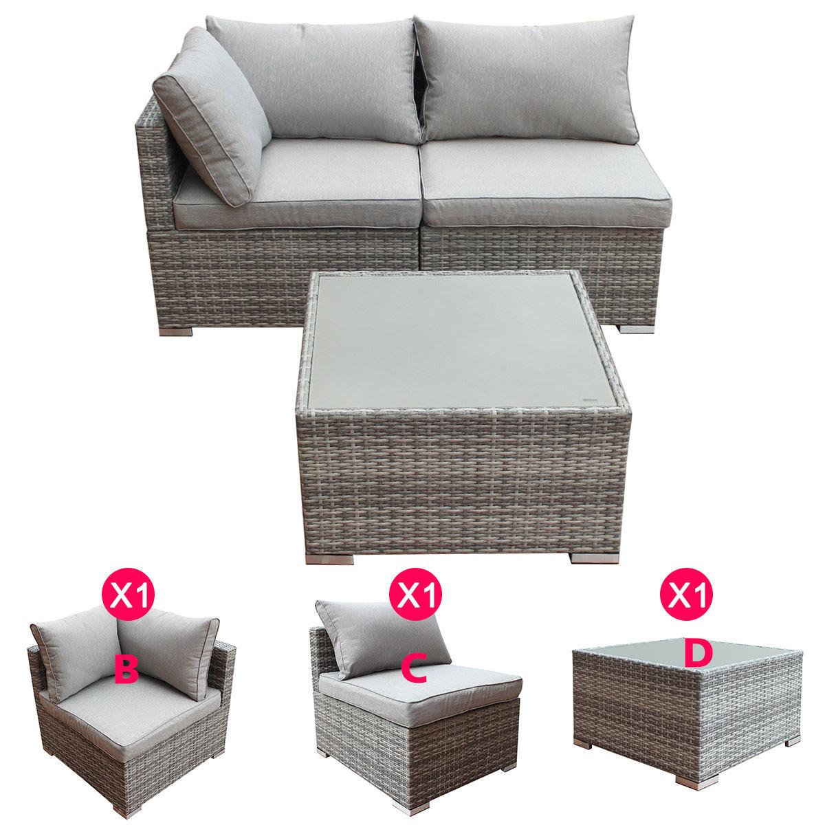 Costway 3-9pcs Patio Rattan Sofa Furniture Set Infinitely