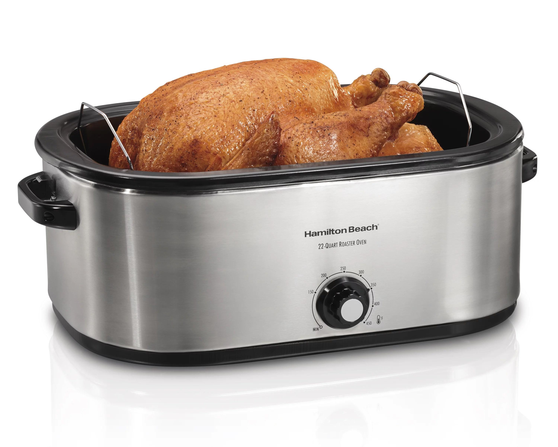 hamilton beach 22 quart roaster oven fits 28 lb turkey walmart com walmart com