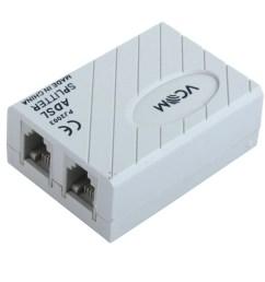 unique bargains 6p2c rj11 line adsl modem phone telephone adapter filter splitter [ 1100 x 1100 Pixel ]