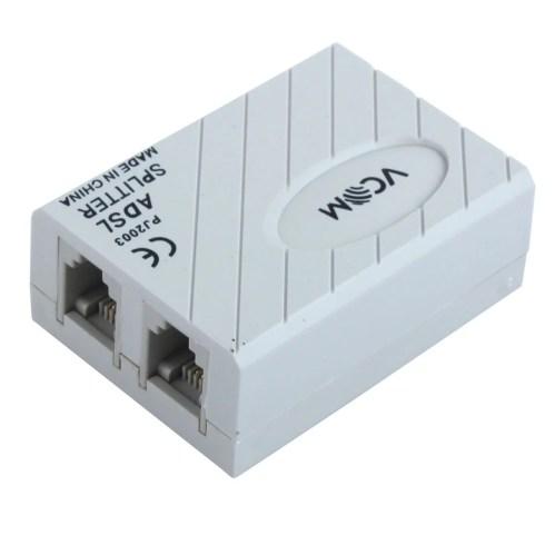 small resolution of unique bargains 6p2c rj11 line adsl modem phone telephone adapter filter splitter