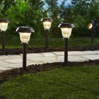 Mainstays 8 Piece Solar-Powered LED Pathway Lighting Set ...
