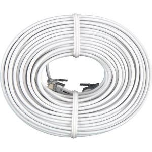 BoostWaves 50' Foot White Telephone Extension Cord Cable