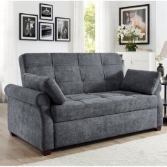 Bianca Futon Sofa Bed Review 3 Seater Covers Canada Beds Walmart Com Product Image Serta Dream Lift Haiden Convertible In Grey Fabric