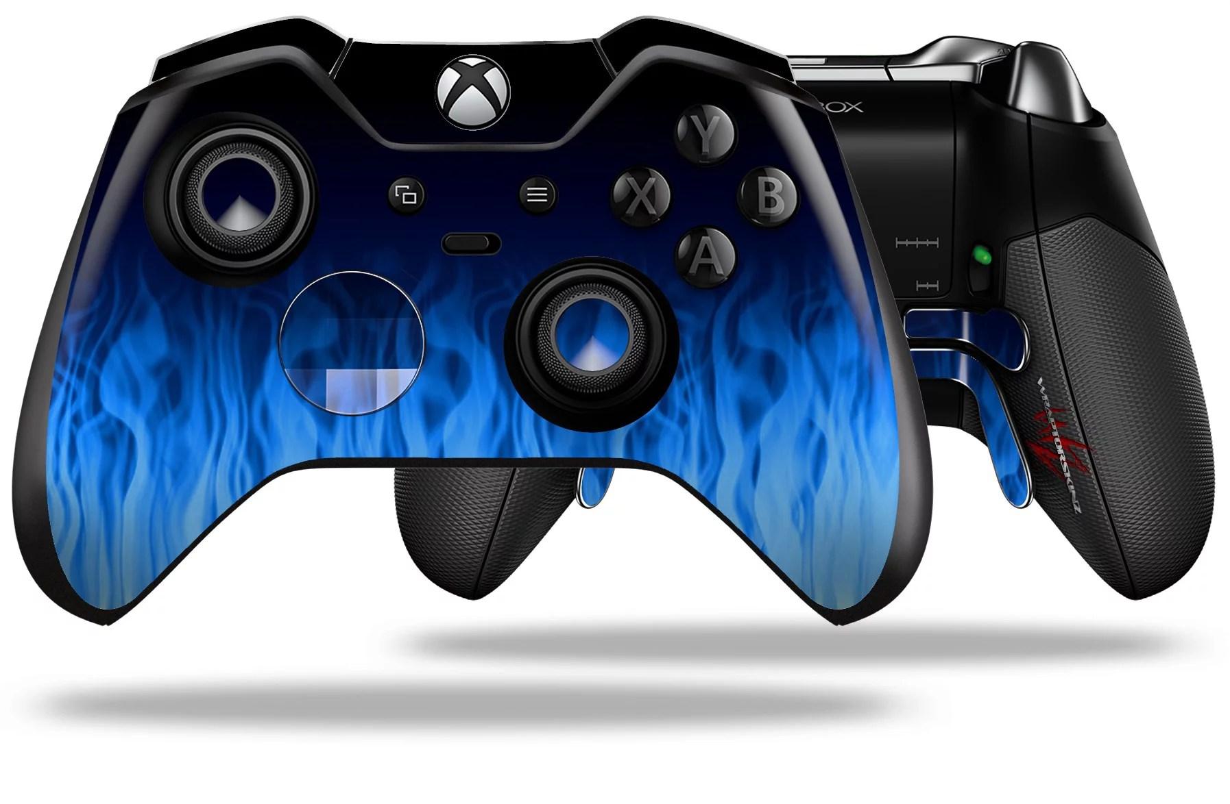 Fire Blue Decal Style Skin Fits Microsoft XBOX One ELITE