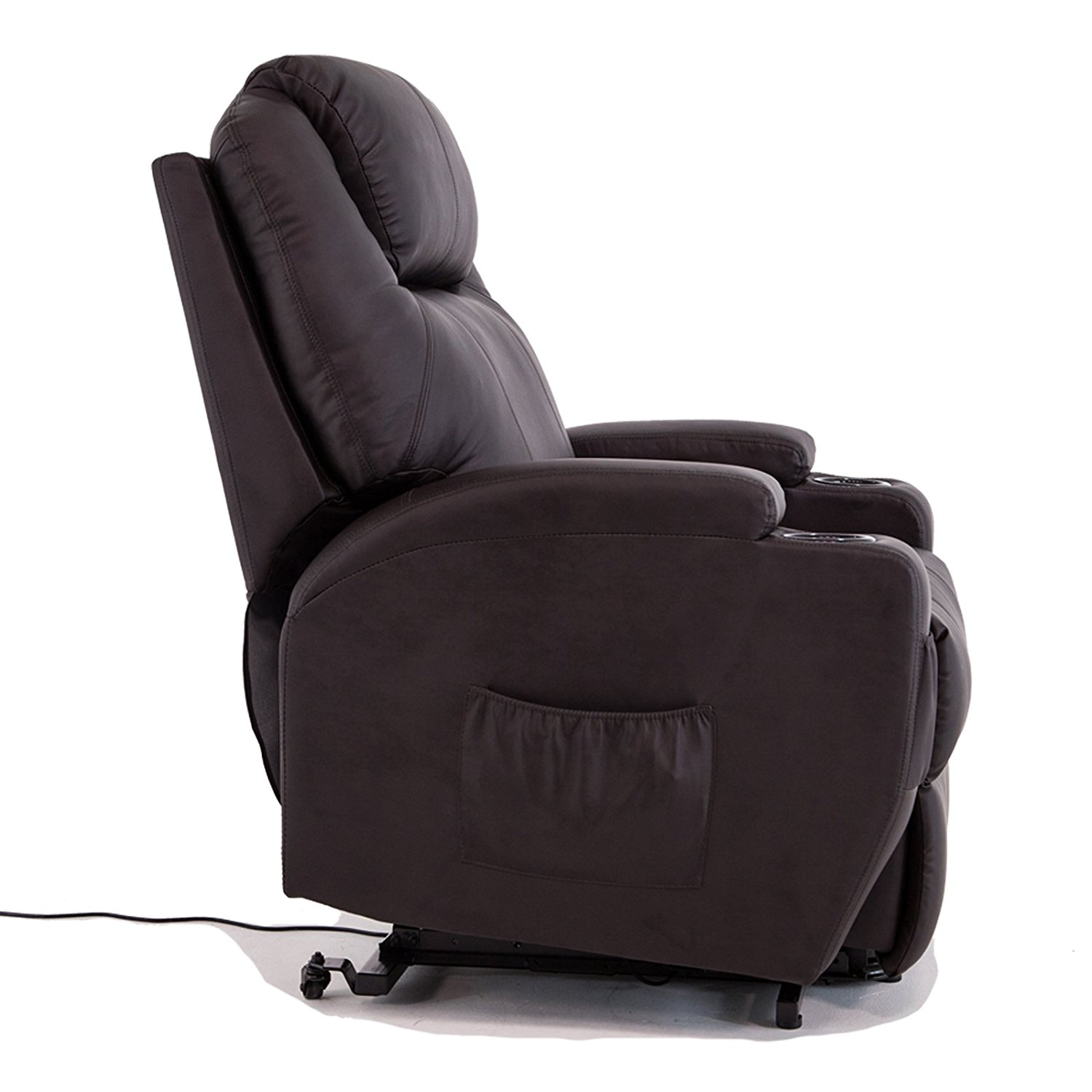 Wall Hugger Lift Chair Uenjoy Power Lift Chair Recliner Armchair Real Leather Wall Hugger Lounge Seat Brown
