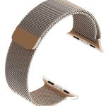 Stainless Steel Apple Watch Band 1 Pc Magnetic Closure Clasp Iwatch Replacement Bracelet 38mm Gold Walmart Com Walmart Com