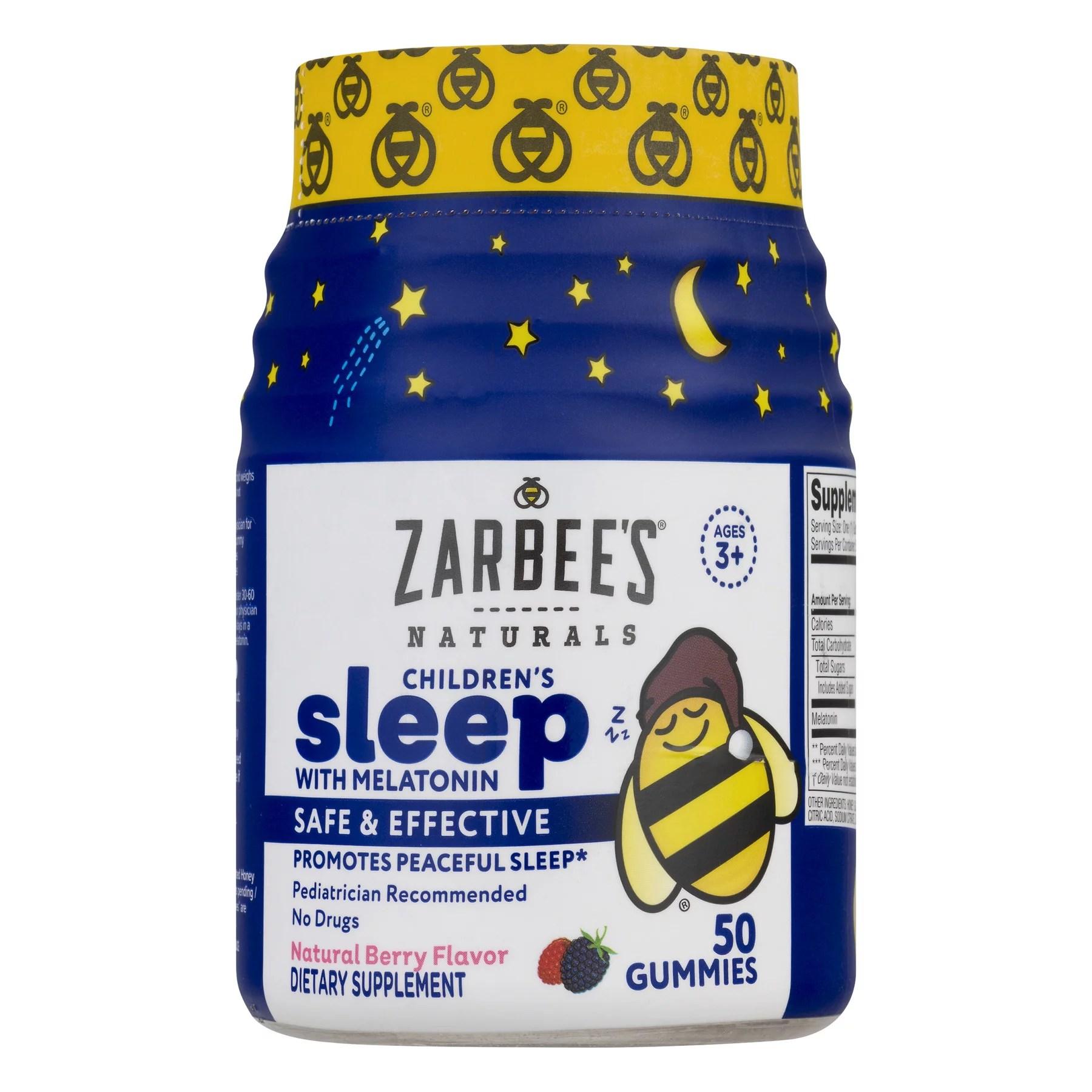 Zarbee's Children's Sleep with Melatonin Berry 50.0 CT ...