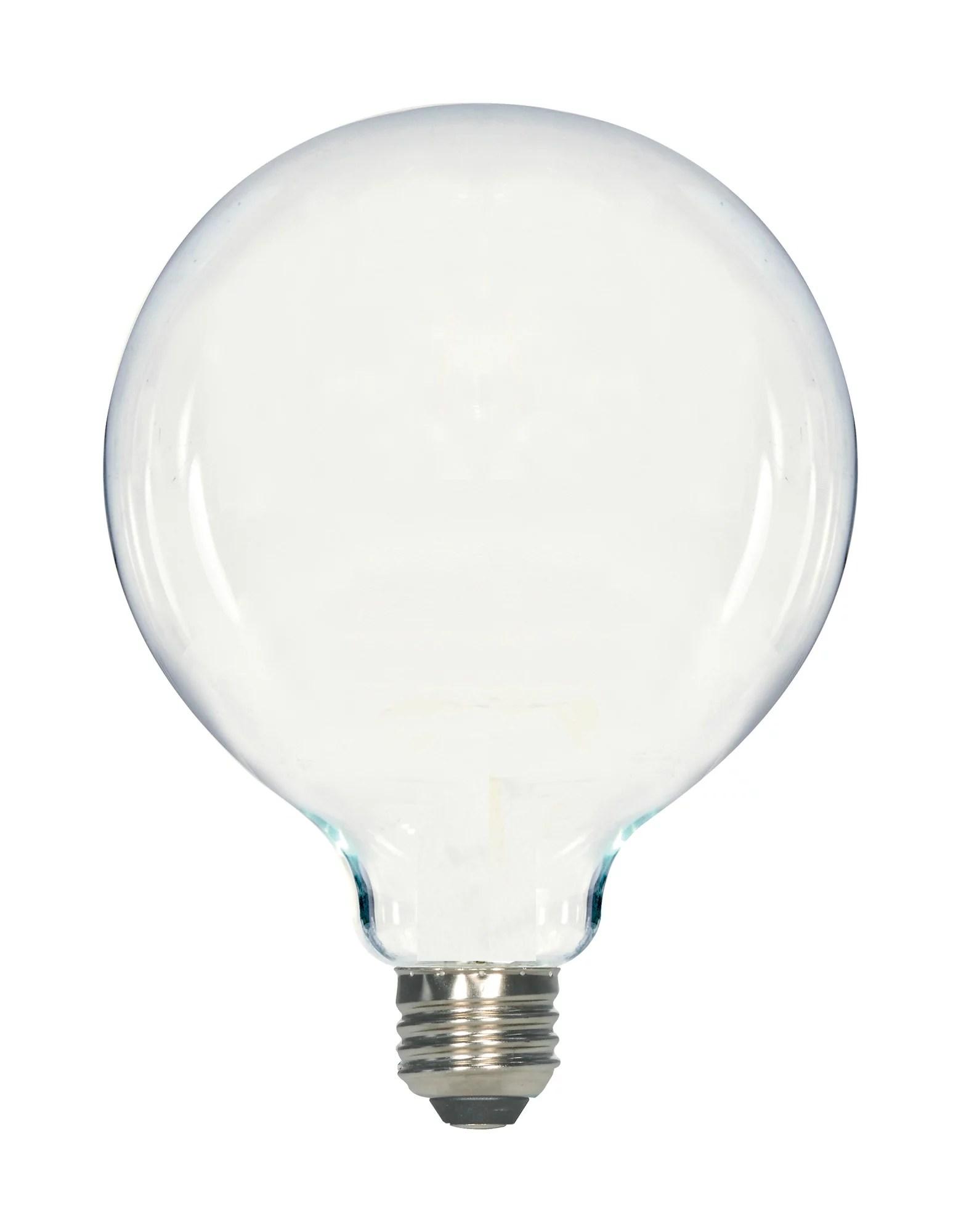 satco lighting s12112 6 5 watt g40 led soft white medium base 2700k 650 lumens 120 volts
