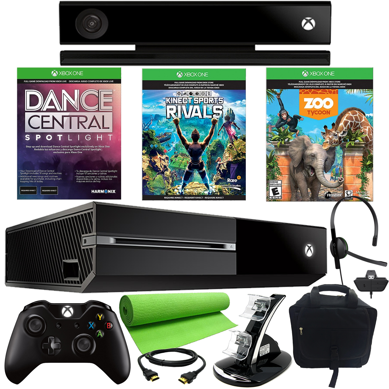 Xbox One 500gb 3 Game Kinect Holiday Bundle With