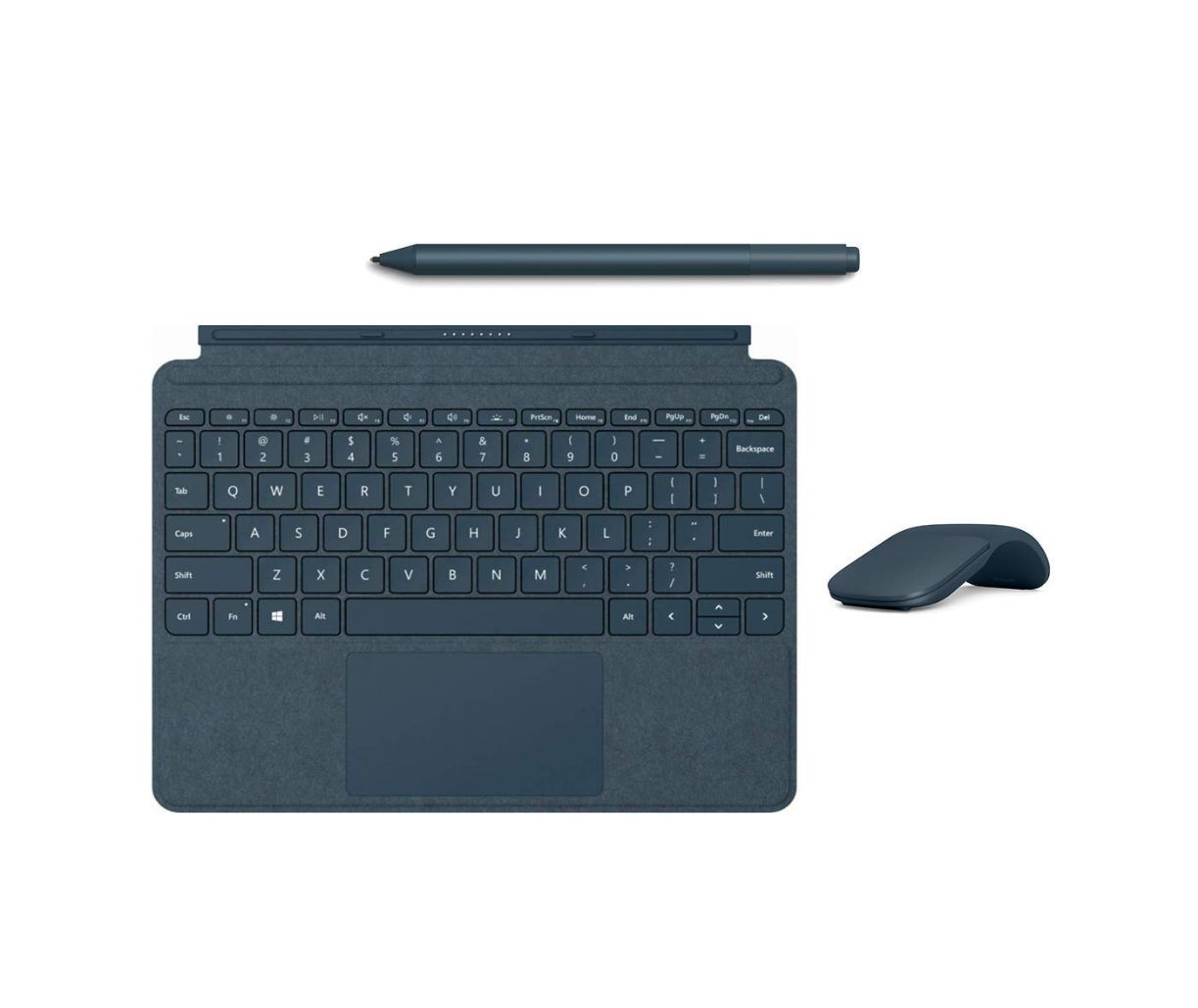 New Microsoft Surface Go Accessories Bundle, Include Official Type Cover, Surface Mouse and Pen (Blue)