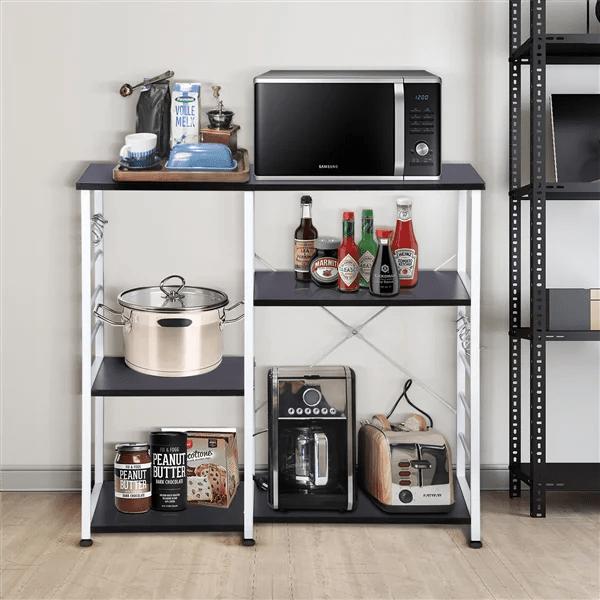 kitchen bakers rack aid dishwashers racks walmart com product image topeakmart 3 tier workstation storage microwave oven stand