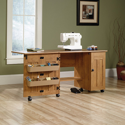 Sauder Sewing and Craft Table Multiple Finishes  Walmartcom