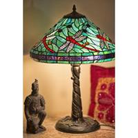 Tiffany Style Turquoise Blue Dragonfly Table Lamp ...
