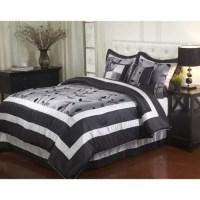 Pastora Silver 7-piece Bedding Comforter Set Queen ...