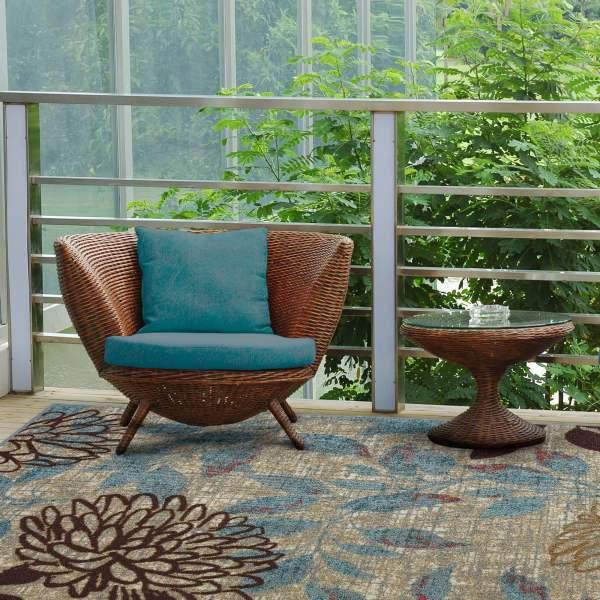 outdoor patio rug Mohawk Home Avenue Stripe Indoor/Outdoor Nylon Rug, Multi