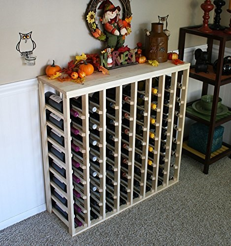 creekside 64 bottle table wine rack pine by creekside exclusive 12 inch deep design conceals entire wine bottles hand sanded to perfection pine