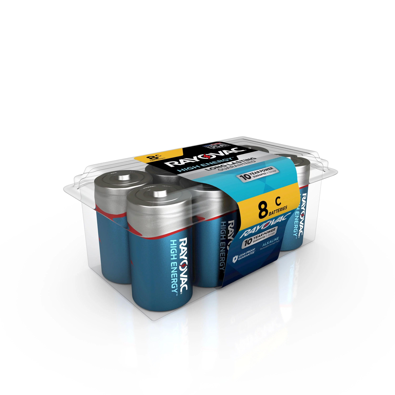 Rayovac High Energy Alkaline, C Batteries, 8 Count