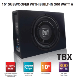 dual electronics tbx10a 10 inch shallow high performance powered enclosed subwoofer with built in amplifier [ 1408 x 1034 Pixel ]