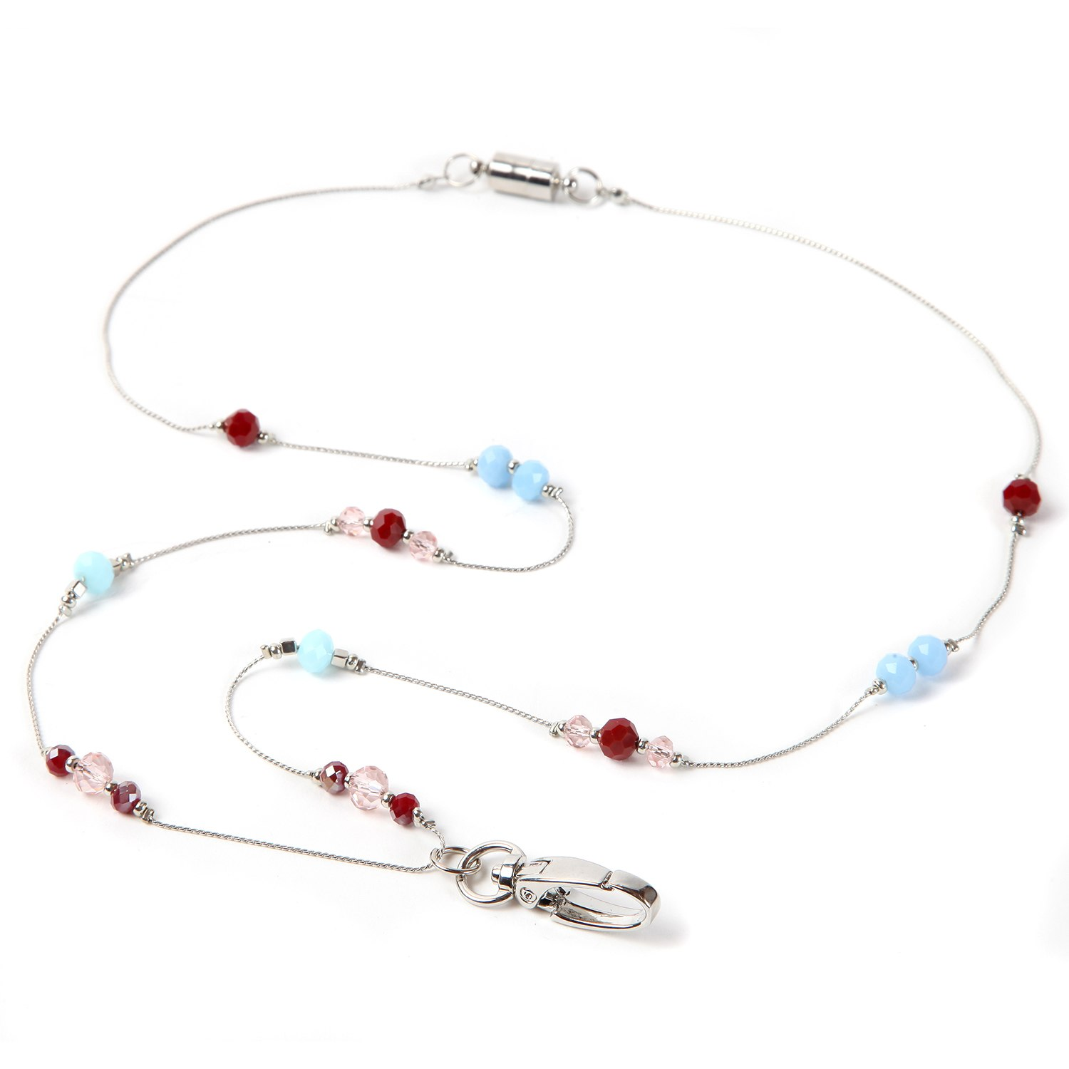 ID Avenue Ivy Women's Fashion Silver Chain and Bead