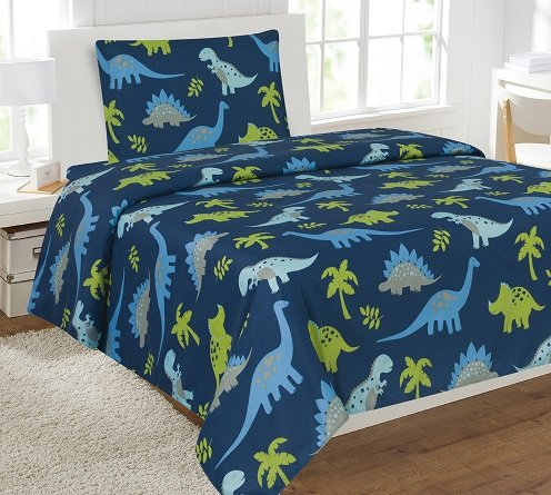 3pc DINOSAUR #3 Kids Microfiber Twin Size Bedding Bed Set