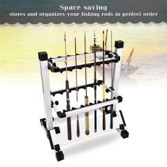 Folding Chair Fishing Pole Holder Big Agnes Helinox Eecoo Rack Lightweight Rod Stand Organizer For 12 Rods Walmart Com