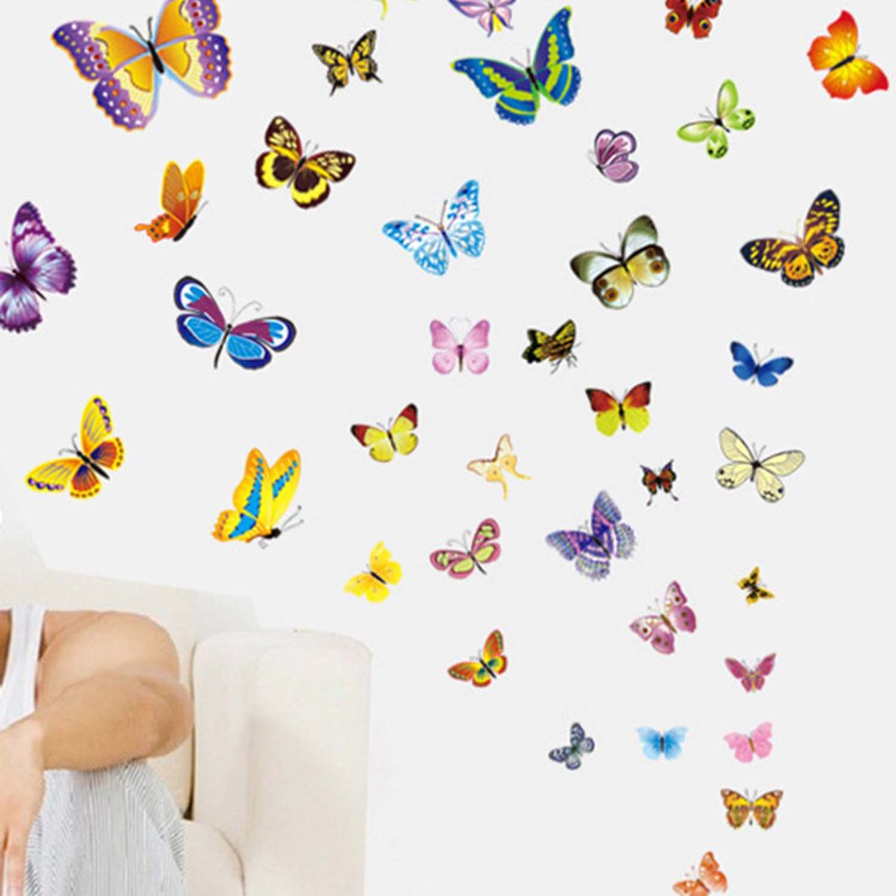 50pcs Butterfly Pattern Removable Wall Stickers Self Adhesive Wall Decoration Walmart Canada