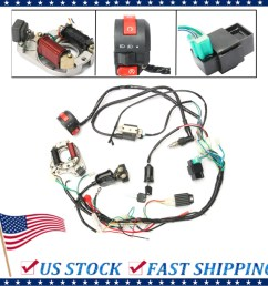 1 set 50 70 90 110cc cdi wire harness assembly wiring kit atv electric start quad only fit for 2 stroke walmart com [ 1200 x 1200 Pixel ]