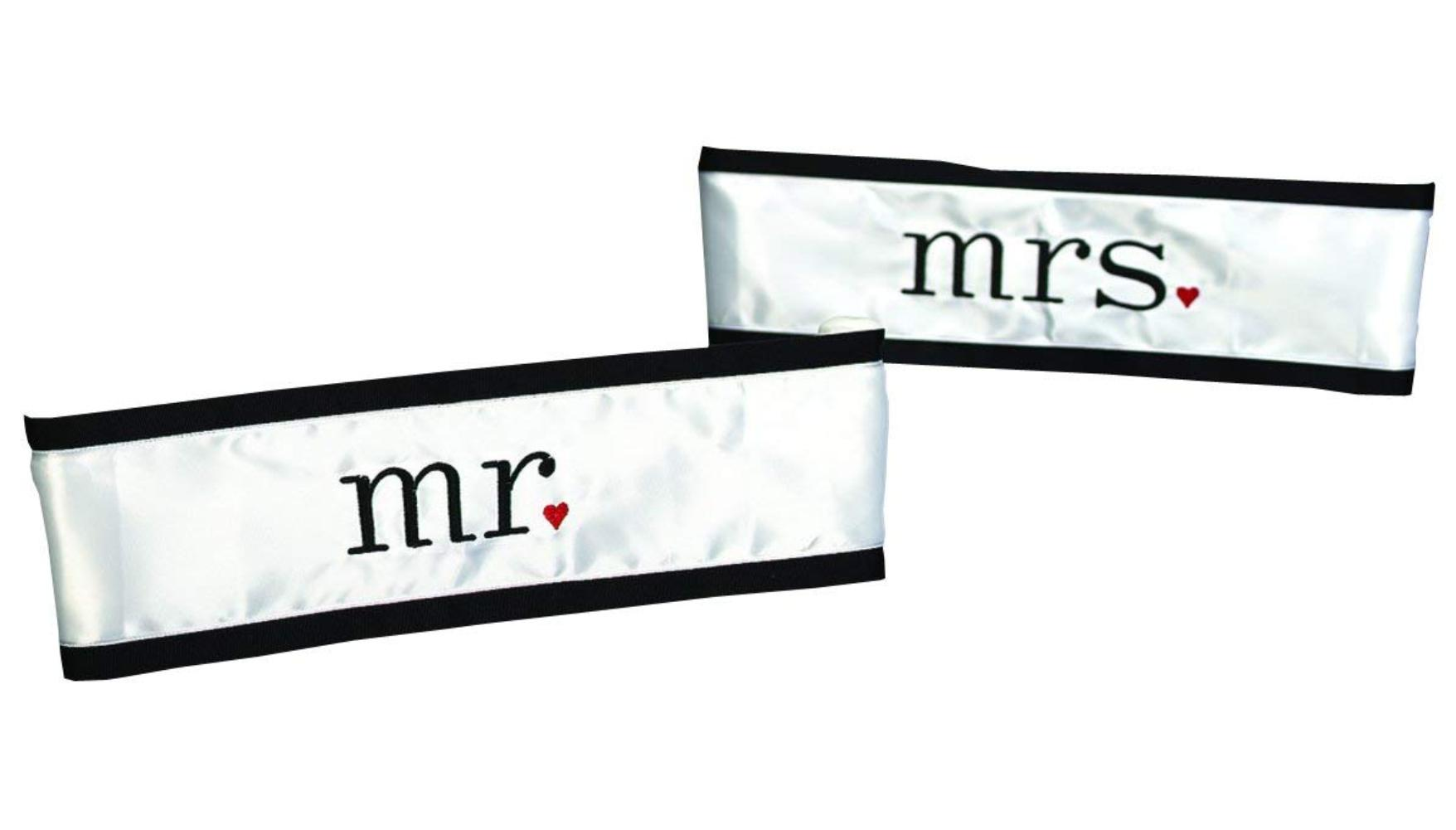 wedding chair sash accessories industrial lounge hortense b hewitt together at last sashes mr and mrs set of 2 satin by walmart com