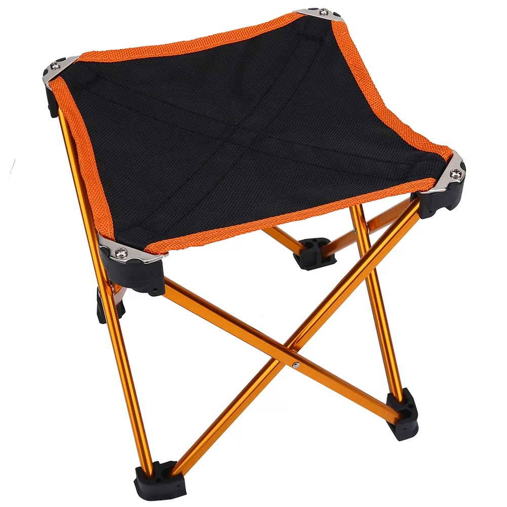 portable folding chairs old blue chair bay hats camping stool outdoor fold up four legs collapsible for hiking fishing