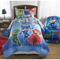 PJ Mask Twin/Full Reversible Comforter with 3 Piece Twin ...