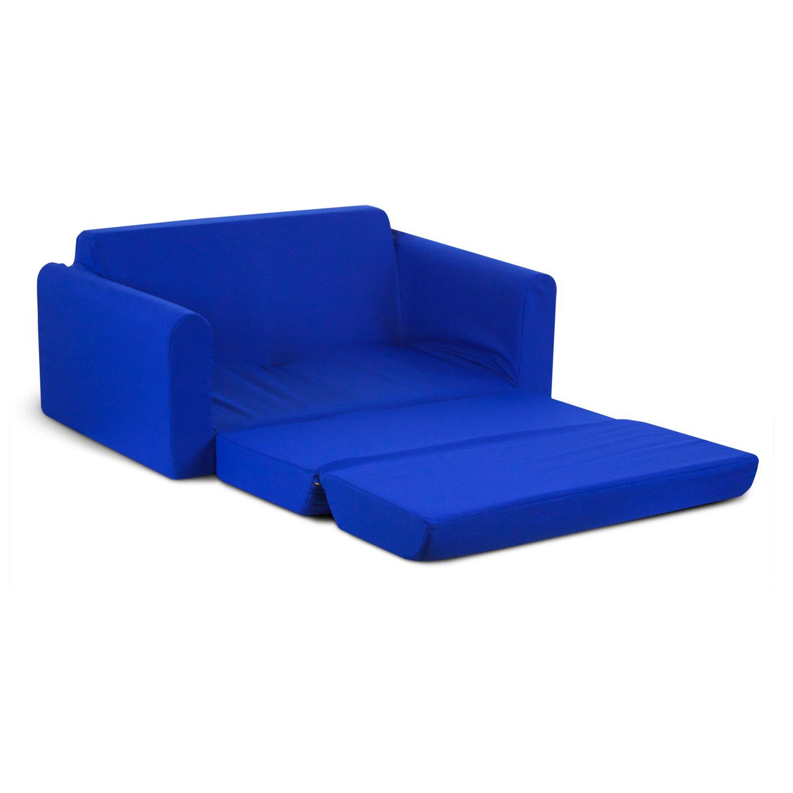child sleeper sofa beige leather sofas kids blue walmart com