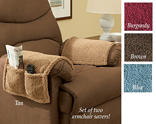 walmart armchair covers office chair protection for hardwood floors with pockets set of 2 brown com
