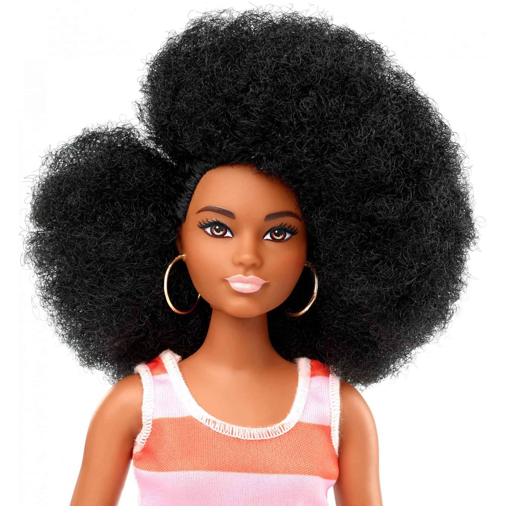 Barbie Fashionistas Doll Curvy Body Type With Stripe Cut Out