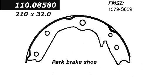 OE Replacement for 2001-2006 Acura MDX Rear Parking Brake