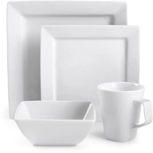 Canopy Square White Porcelain 16