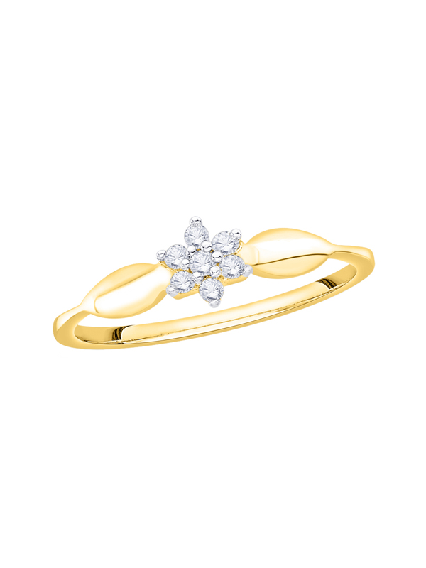 diamond floral ring in