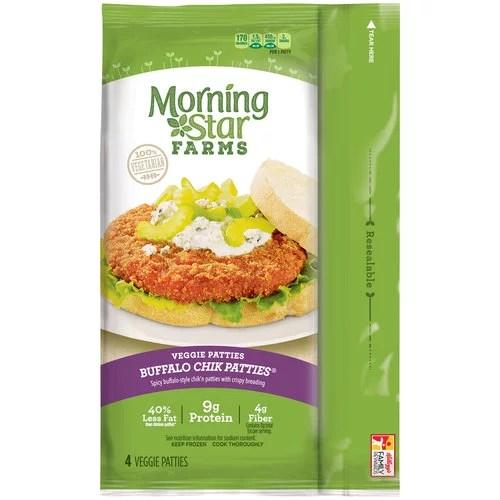 Morning Star Farms Buffalo Chik Patties Veggie Patties 4 ...