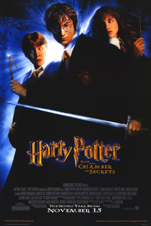 harry potter and the chamber of secrets 2002 11x17 movie poster