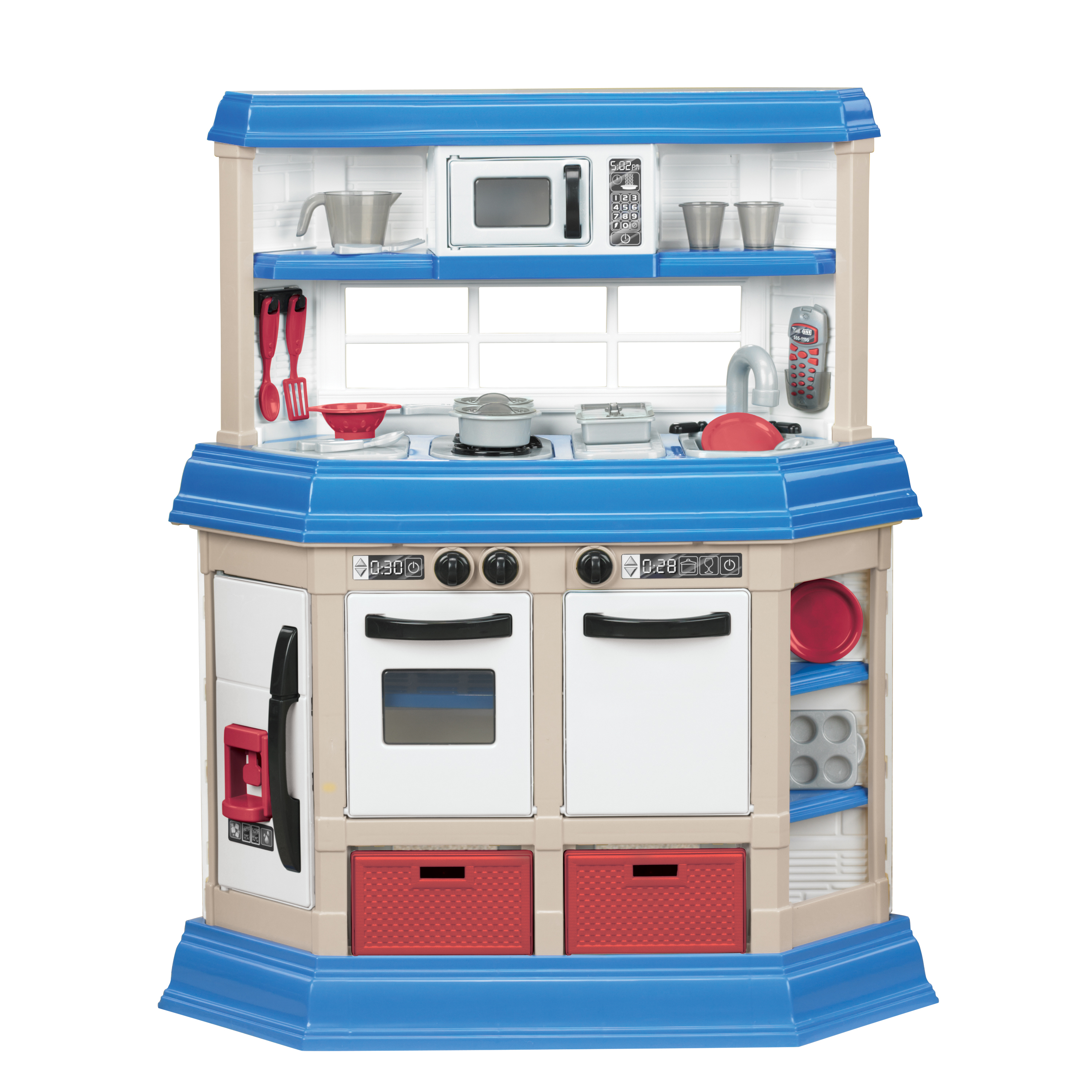 kids play kitchen sets utensil organizer american plastic toys cookin with 22 accessories walmart com