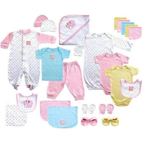 Newborn Baby Girl Deluxe Coordinated Gift Set 24pc