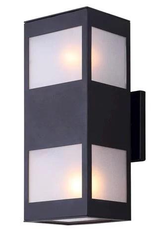 patriot lighting amando 4 3 4 medium black outdoor wall light w frosted glass